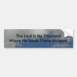 The Lord is My Shepherd Bumper Sticker
