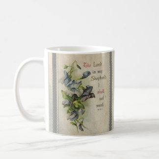 The Lord is My Shepherd Floral Scripture Coffee Mug