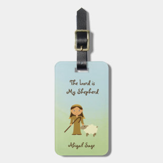 The Lord is My Shepherd Psalm 23, Custom Luggage Tag