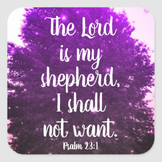 The Lord is My Shepherd Scripture Stickers