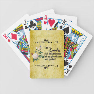 The Lord Is Rich In Kindness Playing Cards II
