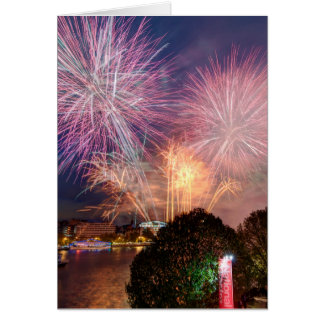 The Lord Mayor's Fireworks, Southbank London Greeting Card