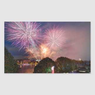 The Lord Mayor's Fireworks, Southbank London Rectangular Sticker