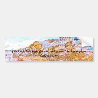 The Lord Shall Fight For You Bumper Sticker