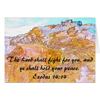 The Lord Shall Fight For You Card