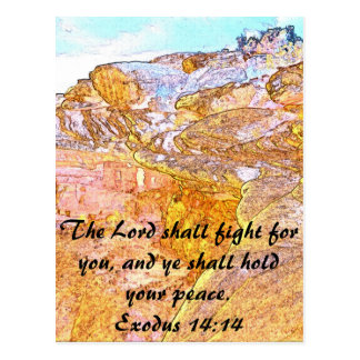 The Lord Shall Fight For You Postcard