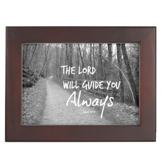 The Lord will guide you bible verse Keepsake Box