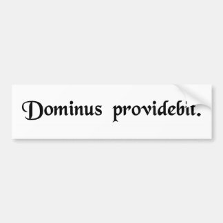 The Lord will provide. Bumper Sticker