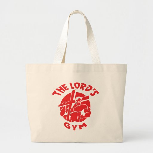 The Lord's Gym - Red Canvas Bags