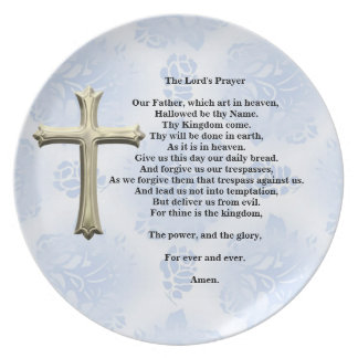 The Lord's Prayer (blue) Plate