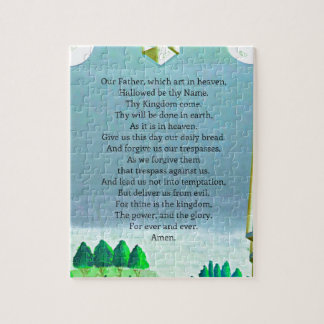 The Lord's Prayer Christian themed art Jigsaw Puzzle