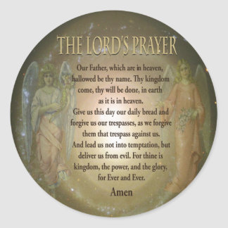 The Lord's Prayer Classic Round Sticker