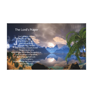 The Lord's Prayer Digital Painting Canvas Prints