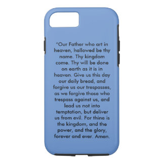 """""""The Lord's Prayer"""" Iphone 7 Cell Phone Cover"""