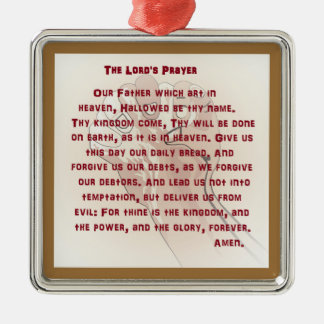 The Lord's Prayer Metal Ornament