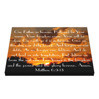 The Lord's Prayer on a beautiful sunset Canvas Prints
