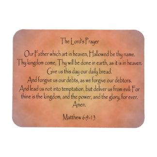 The Lord's Prayer, Orange Vintage Background Magnets