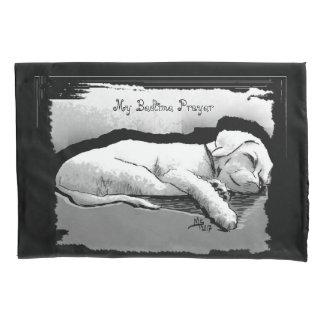 The Lord's Prayer, Our Father, Sleeping Puppy Pillowcase