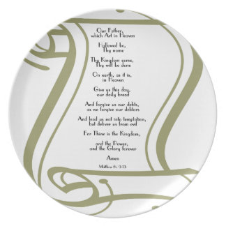 The Lords Prayer Plate