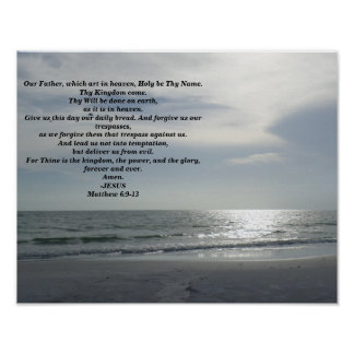 THE LORDS PRAYER POSTER