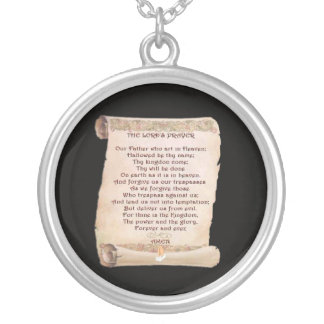 The Lord's Prayer Sterling Silver Necklace