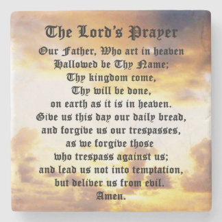 The Lord's Prayer, Sunrise, Marble Coaster