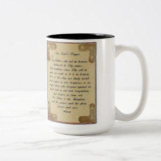 The Lords Prayer Two Tone Coffee Mug. Two-Tone Mug