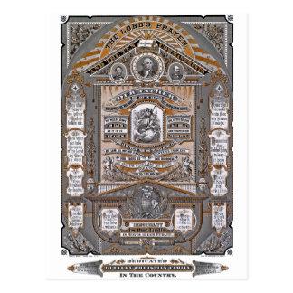The Lord's Prayer vintage engraving (ORANGE) Postcard