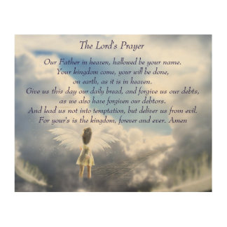 The Lord's Prayer Wood Prints