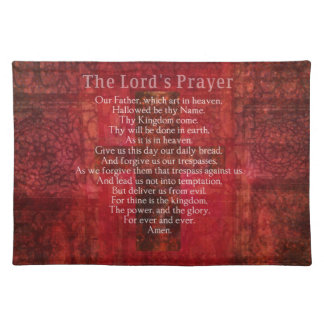 The Lord's Prayer Words traditional Placemat