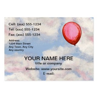 THE LOST BALLOON (party suppliers / entertainer) Pack Of Chubby Business Cards