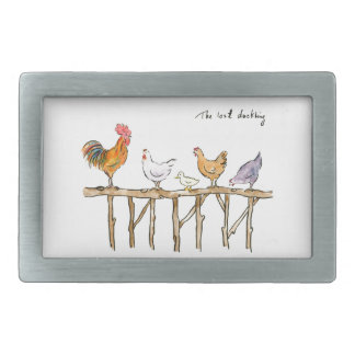The lost duckling, chickens and duckling belt buckle