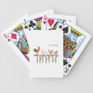 The lost duckling, chickens and duckling bicycle playing cards