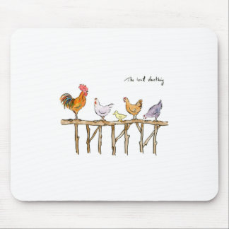 The lost duckling, chickens and duckling mouse pad