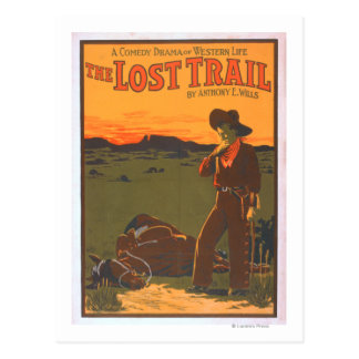 The Lost Trail - Comedy Drama Western Life Postcard