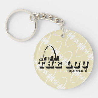 The Lou St. Louis Represent Key Ring