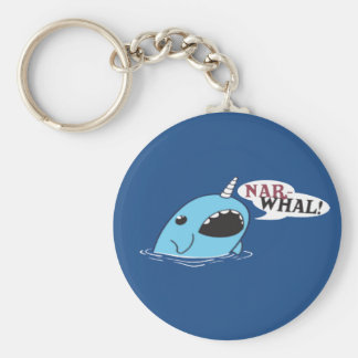 The Loud Narwhal Key Ring