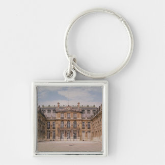 The Louis XIII Courtyard, or the Marble Silver-Colored Square Key Ring