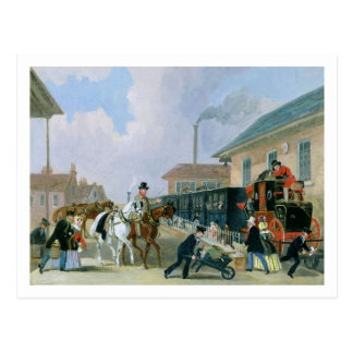 The Louth-London Royal Mail Travelling by Train fr Postcard