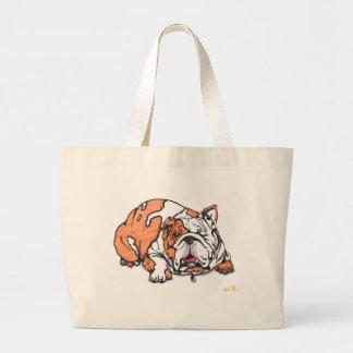 the lovable bulldog canvas bags