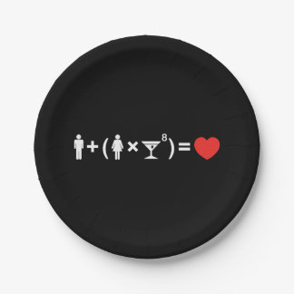 The Love Equation for Women Paper Plate