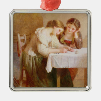 The Love Letter, 1871 Metal Ornament