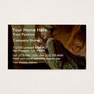The Love Letter,  By Fragonard, Jean-Honoré (Best Business Card