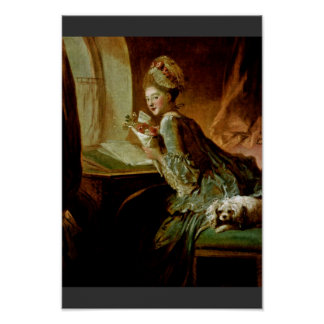 The Love Letter,  By Fragonard, Jean-Honoré (Best Poster