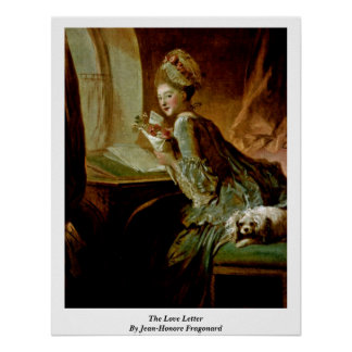 The Love Letter By Jean-Honore Fragonard Poster