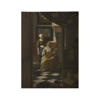 The Love Letter, Johannes Vermeer, c. 1669 - c. 16 Wood Poster