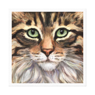 """The Love of a Tabby"" Canvas Print"