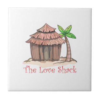 The Love Shack Small Square Tile