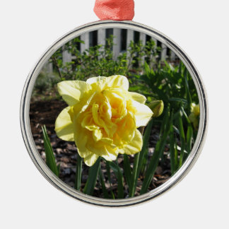 The Lovely Daffodil Silver-Colored Round Decoration