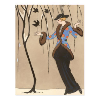 The Lovely Sparrow by George Barbier Postcard